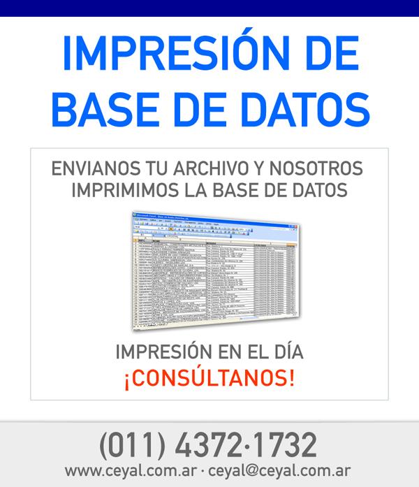 Impresión de Base de Datos
