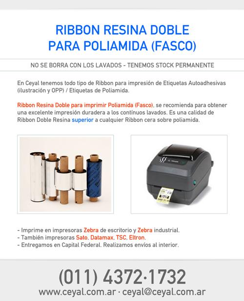 Ribbon Resina Doble para imprimir Poliamida (Fasco)