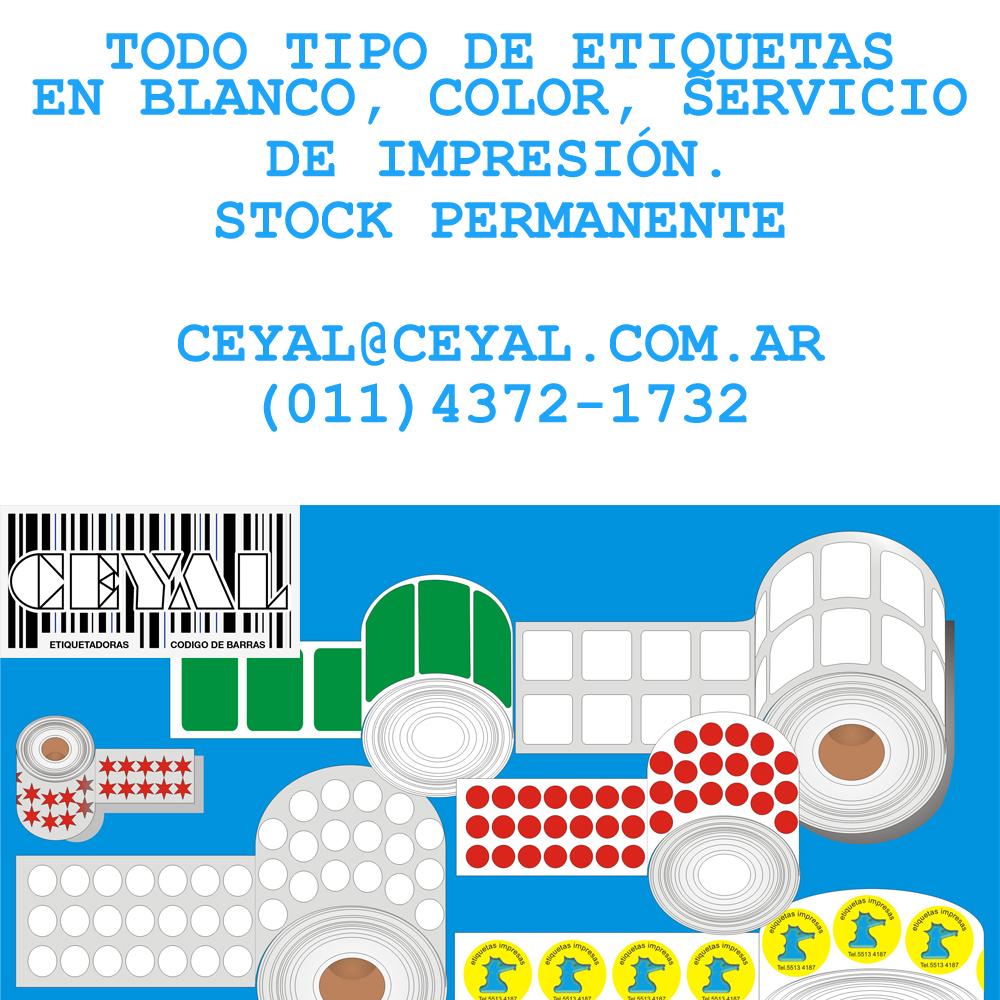 ETIQUETAS IMPRESAS AUTOADHESIVAS 100X60