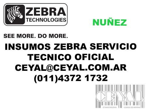 INSUMOS ZEBRA ETIQUETAS RIBBON Y SERVICIO TECNICO NUÑEZ