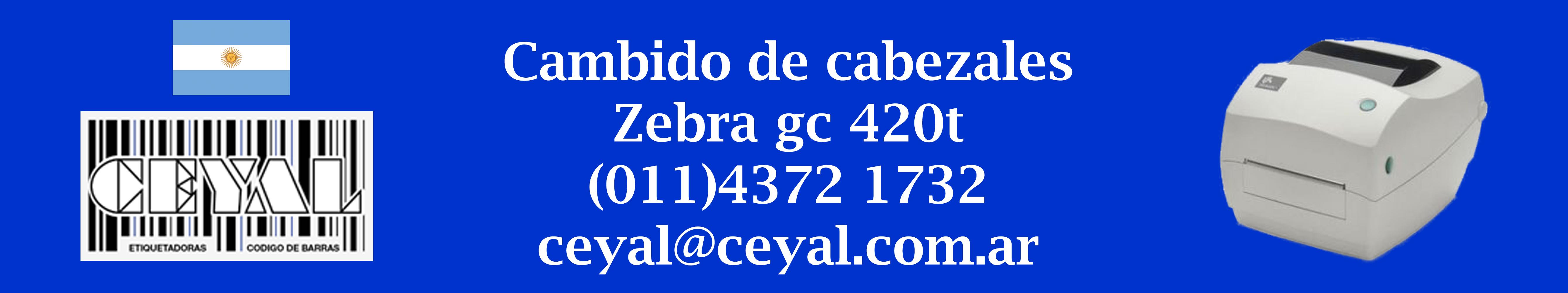 cambio de cabezales impresora gc 420t