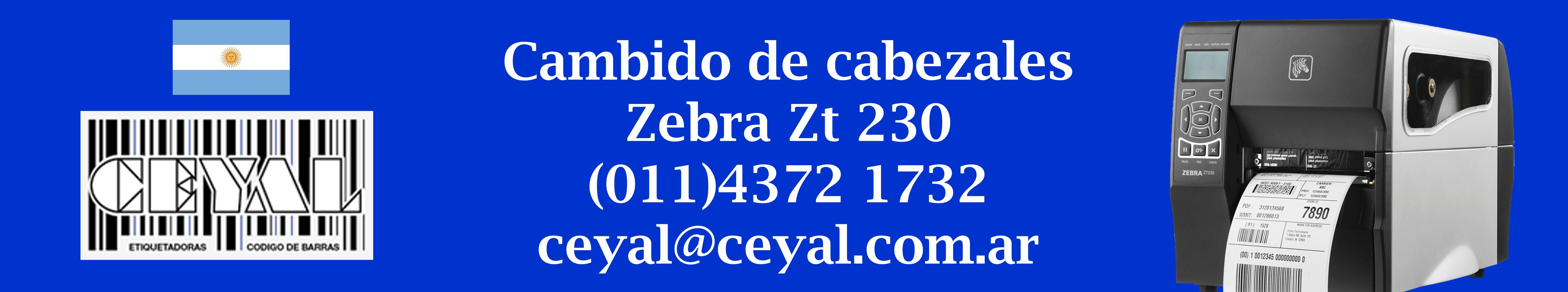 cambio de cabezales impresora zt 230