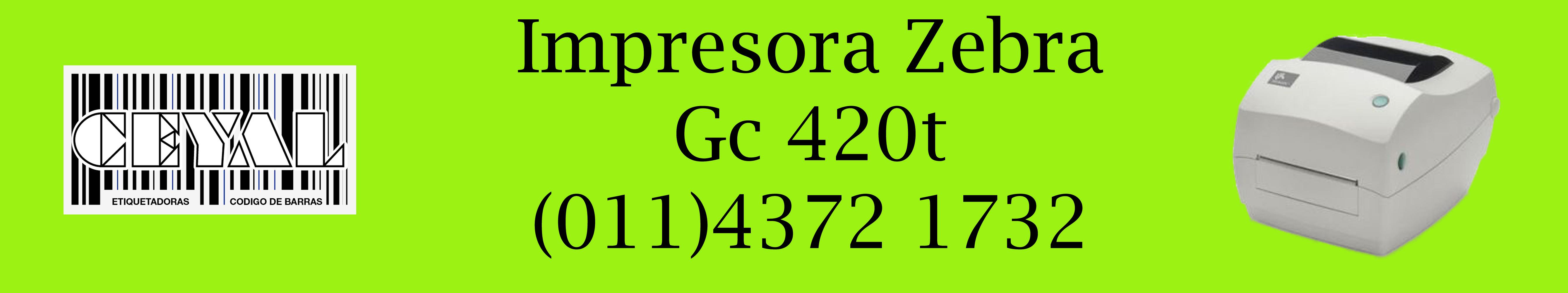impresora zebra gc 420t