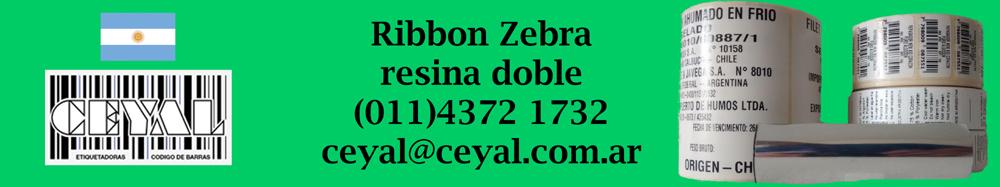 ribbon zebra resina doble