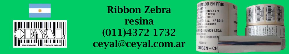 ribbon zebra resina