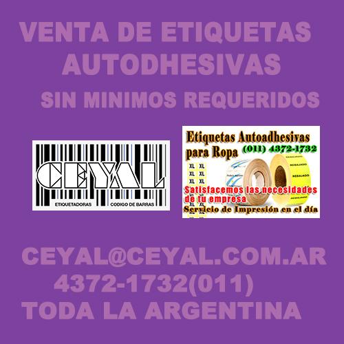 BUSCO ETIQUETAS AUTODHESIVAS PARA ROPA CEYAL ARGENTINA