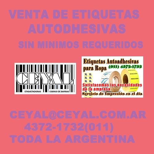 venta de etiquetas autodhesivas sin minimos requeridos CEYAL ARGENTINA