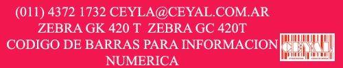 indumentaria textil  impresoas zebra gc420t gk420t