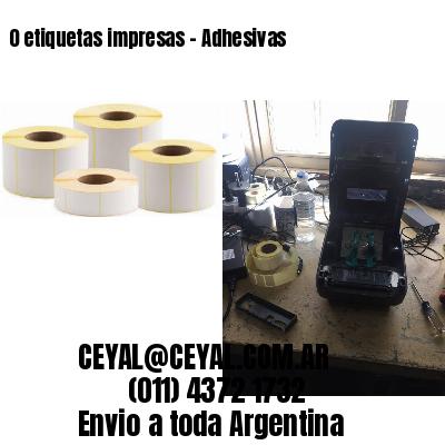 0 etiquetas impresas - Adhesivas