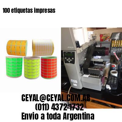 100 etiquetas impresas