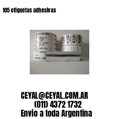 105 etiquetas adhesivas