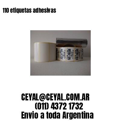 110 etiquetas adhesivas