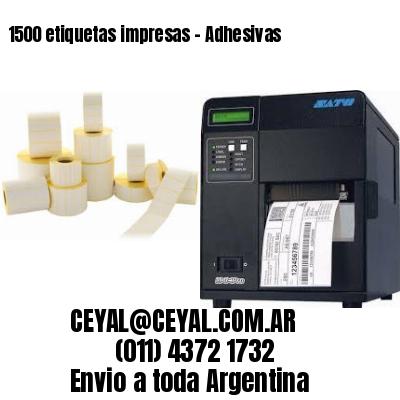 1500 etiquetas impresas - Adhesivas