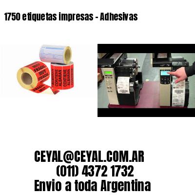 1750 etiquetas impresas - Adhesivas