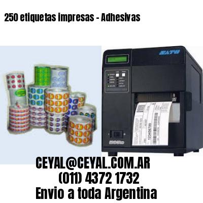 250 etiquetas impresas - Adhesivas