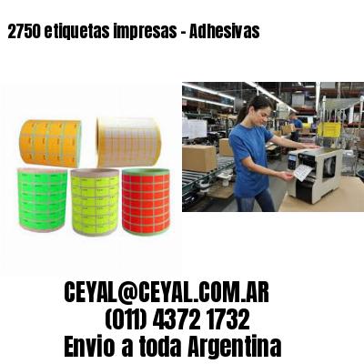 2750 etiquetas impresas - Adhesivas