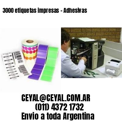 3000 etiquetas impresas - Adhesivas