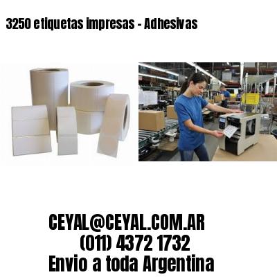 3250 etiquetas impresas - Adhesivas