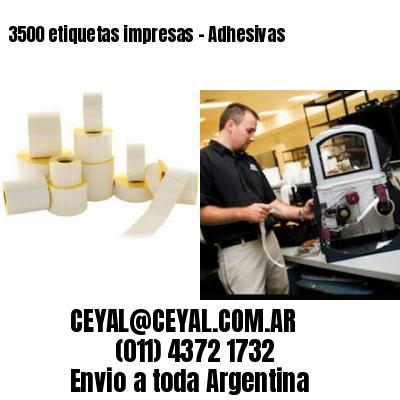 3500 etiquetas impresas - Adhesivas