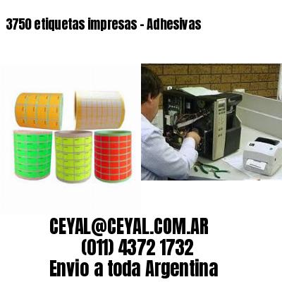 3750 etiquetas impresas - Adhesivas