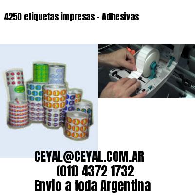 4250 etiquetas impresas - Adhesivas