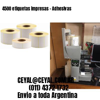 4500 etiquetas impresas - Adhesivas