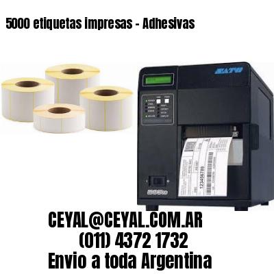 5000 etiquetas impresas - Adhesivas