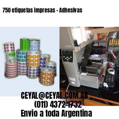 750 etiquetas impresas - Adhesivas