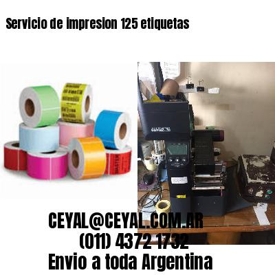 Servicio de impresion 125 etiquetas