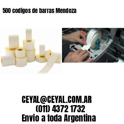 500 codigos de barras Mendoza