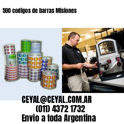 500 codigos de barras Misiones