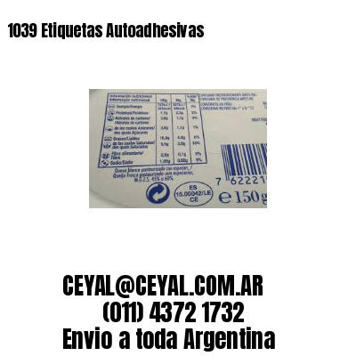 1039 Etiquetas Autoadhesivas