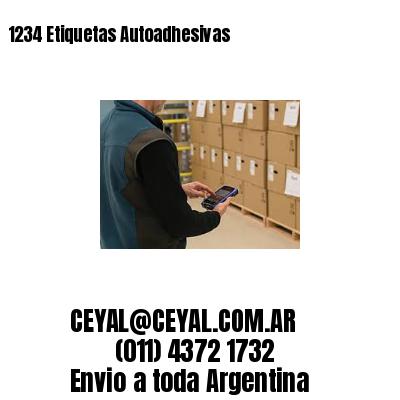 1234 Etiquetas Autoadhesivas