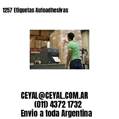 1257 Etiquetas Autoadhesivas