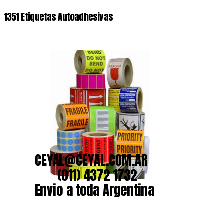 1351 Etiquetas Autoadhesivas