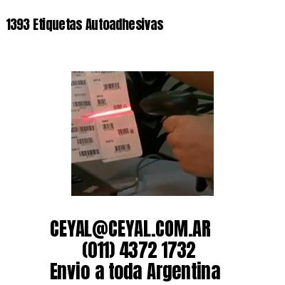 1393 Etiquetas Autoadhesivas