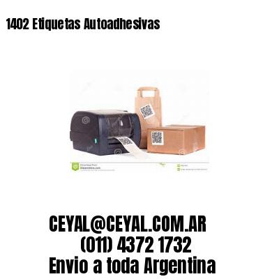 1402 Etiquetas Autoadhesivas