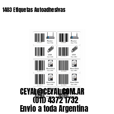 1403 Etiquetas Autoadhesivas