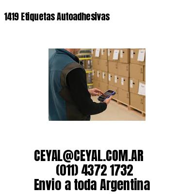 1419 Etiquetas Autoadhesivas