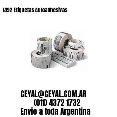 1492 Etiquetas Autoadhesivas