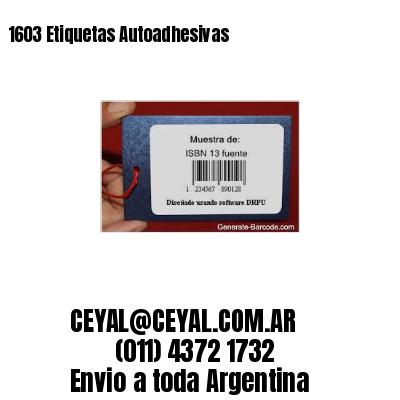 1603 Etiquetas Autoadhesivas