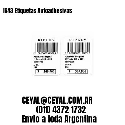 1643 Etiquetas Autoadhesivas