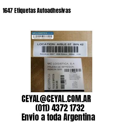1647 Etiquetas Autoadhesivas