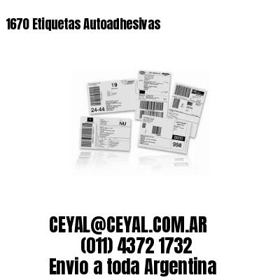 1670 Etiquetas Autoadhesivas