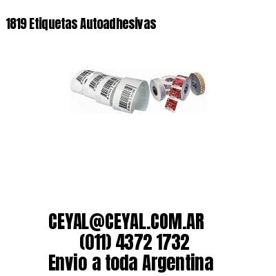 1819 Etiquetas Autoadhesivas
