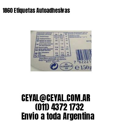 1860 Etiquetas Autoadhesivas