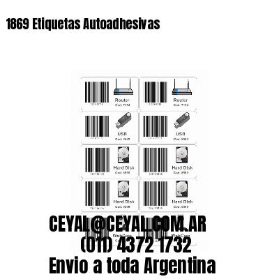 1869 Etiquetas Autoadhesivas