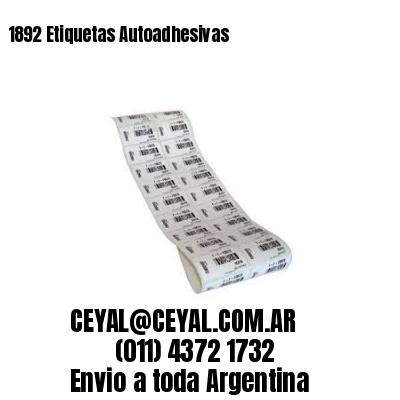 1892 Etiquetas Autoadhesivas
