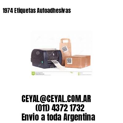1974 Etiquetas Autoadhesivas