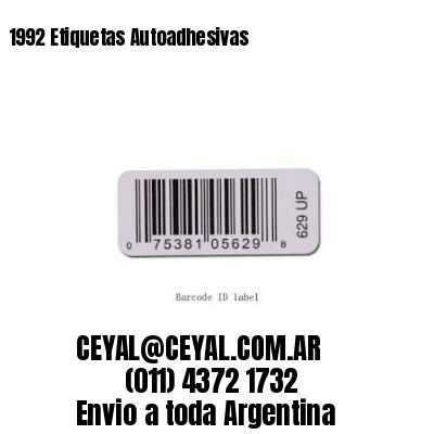 1992 Etiquetas Autoadhesivas